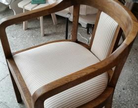 Restaureeritud tool, kangas Ringiääres salongist
