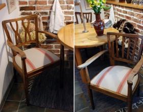 Restaureeritud toolid, kangas Ringiäärest