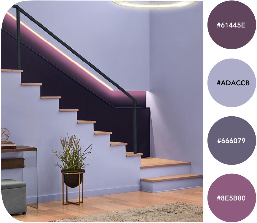 Ringiääres - 15 trendivärvi sisekujunduses 2019. aastal - digitaalsusest inspireeritud